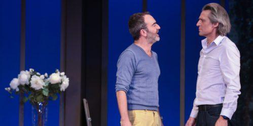 ©PHOTOPQR/LE PARISIEN/FREDERIC DUGIT - PARIS 09/09/2016 Spectacle / Théâtre  Théâtre de la Madeleine (Paris VIIIe) « l?heureux élu » une pièce de ÉricAssous mise en scène par JeanLucMoreau avec BrunoSolo, YvanLeBolloc'h, DavidBrécourt, MélaniePage, MathildePenin.  Photo: Bruno Solo /  Yvan Le Bolloc'h (MaxPPP TagID: maxnewsspecial070523.jpg) [Photo via MaxPPP]