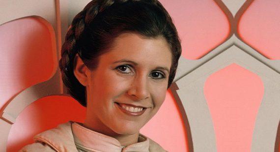 Carrie Fisher dans le rôle de la Princesse Leia pour la série Star Wars
