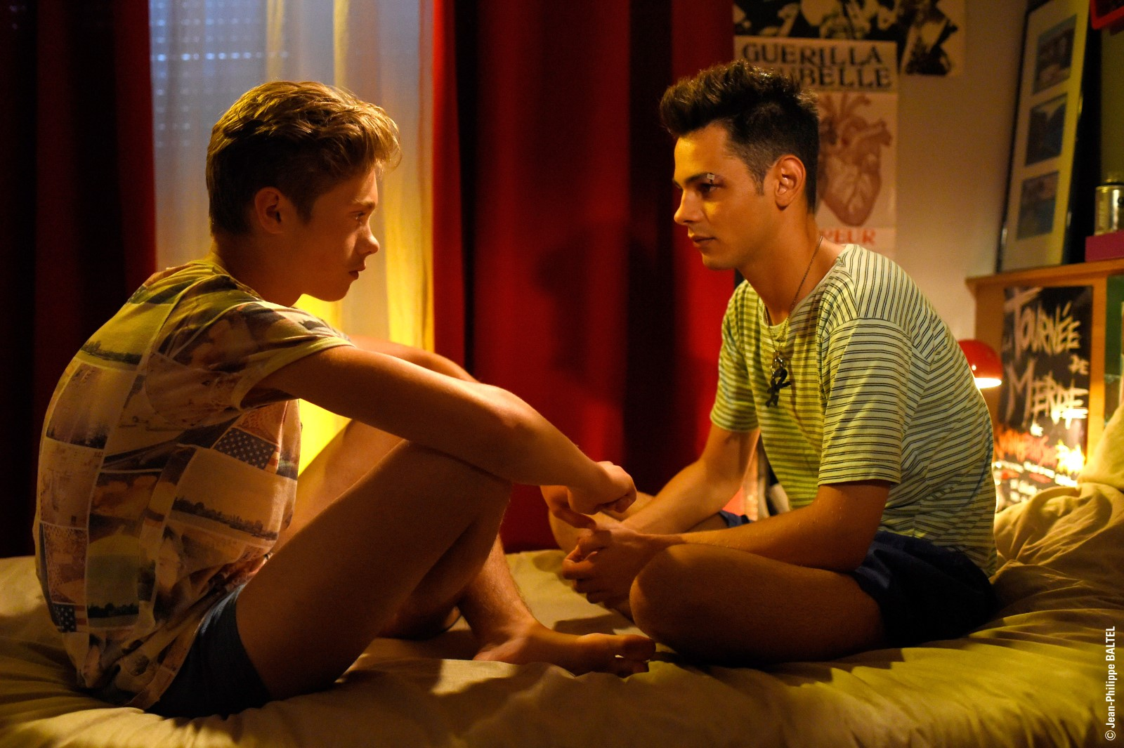 """Tournage de """"Baisers Cachés"""" un film de Didier Bivel Paris,FRANCE-le 27/08/15"""