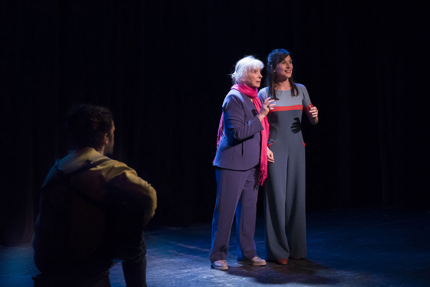 A scene of SAVANNAH BAY written by Marguerite Duras, directed by Christophe Thiry with Michele Simonnet, Anne Freches and Ronan Richard-Kobel in Paris at the Theatre du Lucernaire on january 29, 2019. Une scene de SAVANNAH BAY texte de Marguerite Duras, mise en scene de Christophe Thiry avec Michele Simonnet, Anne Freches et Ronan Richard-Kobel a Paris au Theatre du Lucernaire le 29 janvier 2019.
